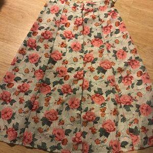 Vintage Petite Teddi Skirt Size M